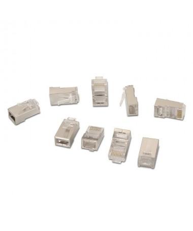 pul liConector para cable red CAT5e RJ45 FTP 8 contactos li liBolsa 10 unidades li liNormativas RoHS li liTest de funcionamient