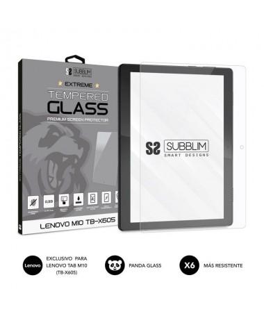 h2CRISTAL TEMPLADO EXTREME LENOVO M10 TB X605 h2pVidrio templado Panda Glass de alta calidad formado por aluminosilicato alcali