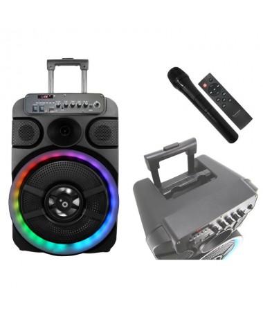 pbrEl altavoz bMUSCLE S12 b cuenta con Bluetooth V50 integrado y 40W de potencia con los que junto a su funcion Karaoke y su mi