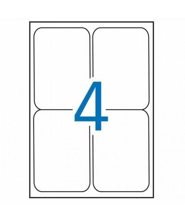 pEtiquetas blancas cantos romos tamano 991 x 1390 mm con adhesivo permanente para multiples usos Pack con 100 hojas 400 etiquet