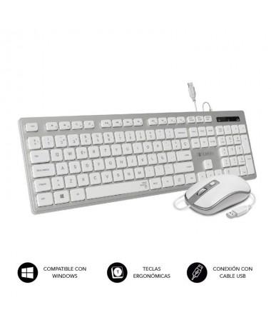 ppLa combinacion de Teclado y raton con cable USB SUBBLIM ERGO te proporciona una precisa y confortable escritura gracias a su