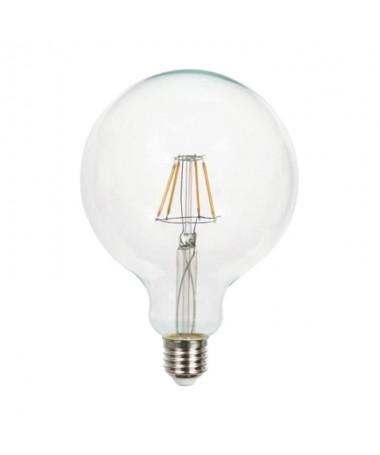 p pdivBombilla LED de filamento cristal transparente en formato globo con casquillo E27 con una potencia de 8W 800 lumenes Disp