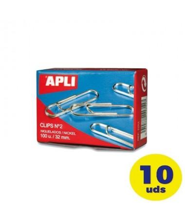 pClips de alambre nº 2 32 mm con acabado galvanizado plata que le da una apariencia mas brillante Ideales para mantener todos
