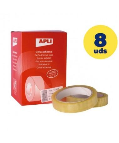 ppCinta adhesiva transparente 19 mm x 66 m de uso universal Film resistente de 28 micras y desenrollado silencioso Buena transp