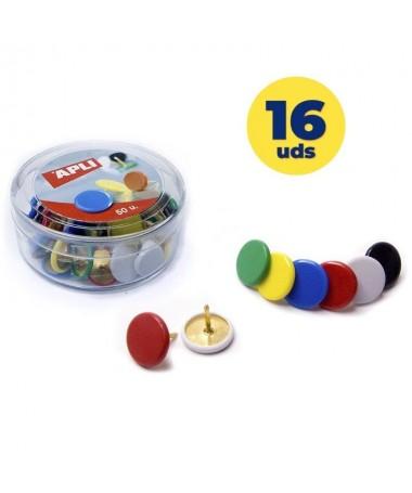 ph2Chinchetas colores surtidos Ø 10 mm 50 u h2Chinchetas niqueladas con cabezal de plastico de diametro Ø 10 mm brColores sur