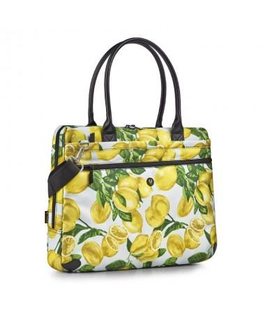 pulliElegantenbspmaletin de portatil de hasta 16 para mujeres liliSu estampado de limones la convierte en un accesorio original