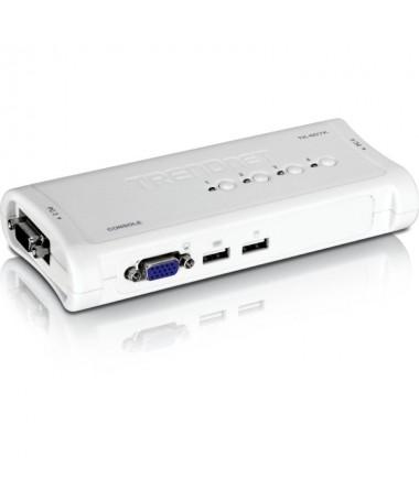 ph2Kit de KVM switch USB de 4 puertos h2ul liKVM switch de 4 puertos con conexiones VGA y USB a computador li liControl de disp