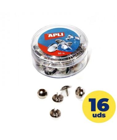 pulliChinchetas niqueladas de diametro Ø 10 mm  liliCabeza redondeada y punta afilada para facilitar su insercion  liliCada ca