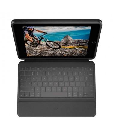ph2PROTECCIoN REFORZADA DISENO ESTILIZADO h2Rugged Folio para iPad 7ª y 8ª generacion es una funda con teclado estilizada con