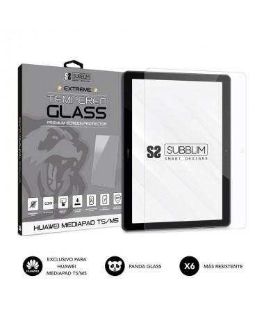 h2CRISTAL TEMPLADO EXTREME HUAWEI MEDIAPAD T5 M5 h2pVidrio templado Panda Glass de alta calidad formado por aluminosilicato alc