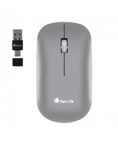 ph2NGS WIRELESS MULTIMODE MOUSE SNOOP RB h2Raton inalambrico multidispositivo Bluetooth LASER recargable 24Ghz USB A USB C BT30