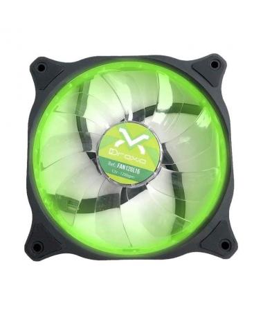 ppulliVentilador caja HOLOGRAM 120mm con 15 LED color verde liliVentilador adicional de diseno actual para caja de PC de 1212cm