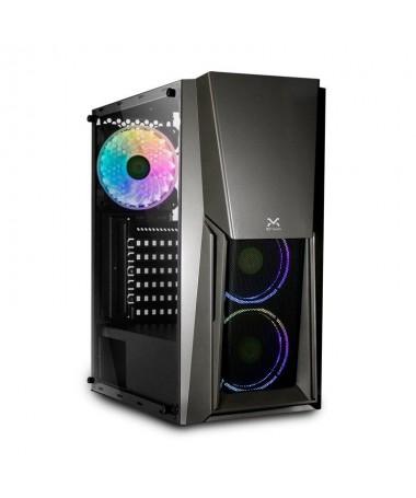 ppDroxio amplia su familia de torres con la nueva BURNER una caja ATX con lateral de cristal templado y efectos de retroilumina