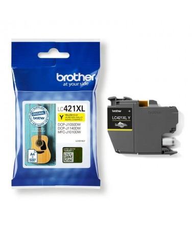 pEl cartucho de tinta amarilla Brother LC421XLY paquete individual Imprime 500 paginasbr pp pp pulliLC421XLY Imprime 500 pagina