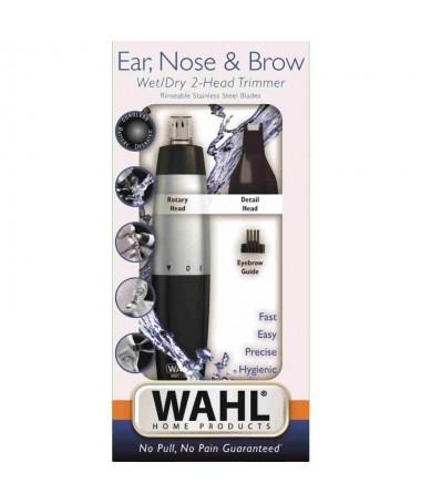 ppEste practico recortador de nariz cejas y orejas cuenta con 2 cabezales de corte y un sistema de corte giratorio de acero ino