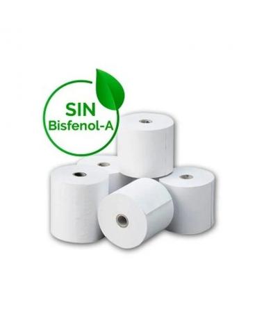pPaquete 8 rollos papel termico BPA free libre de bisfenol A 80 x 80mmbr p