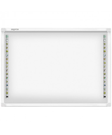 pLa APPIB179 es una pizarra interactiva que combina la ultima tecnologia multitactil con una pantalla de proyeccion de bajo bri