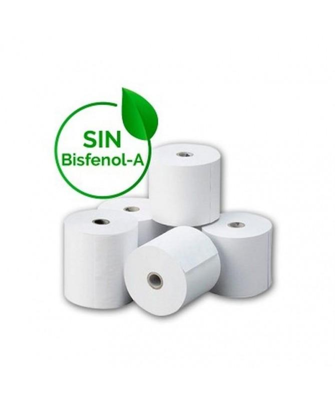 pPaquete 8 rollos papel termico BPA free libre de bisfenol A 80 x 60mmbr p