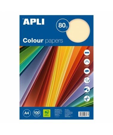 ULLIPack de 100 hojas de papel de colores de 80 gr LILIApto para todo tipo de impresoras para escribir a mano y para manualidad
